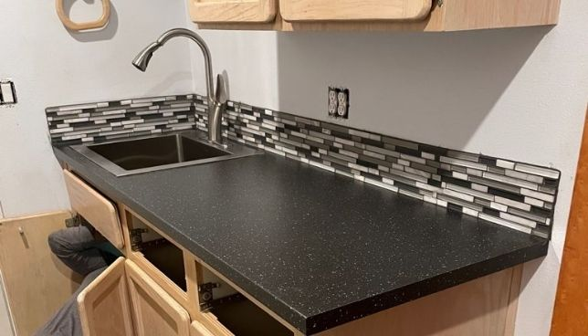 sink are installed